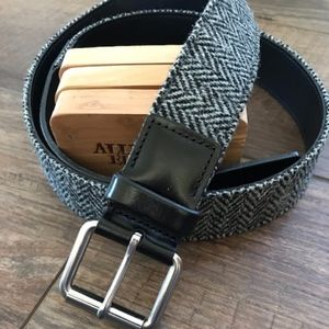 """Allen Edmonds """"Logan Ave"""" tweed belt"""